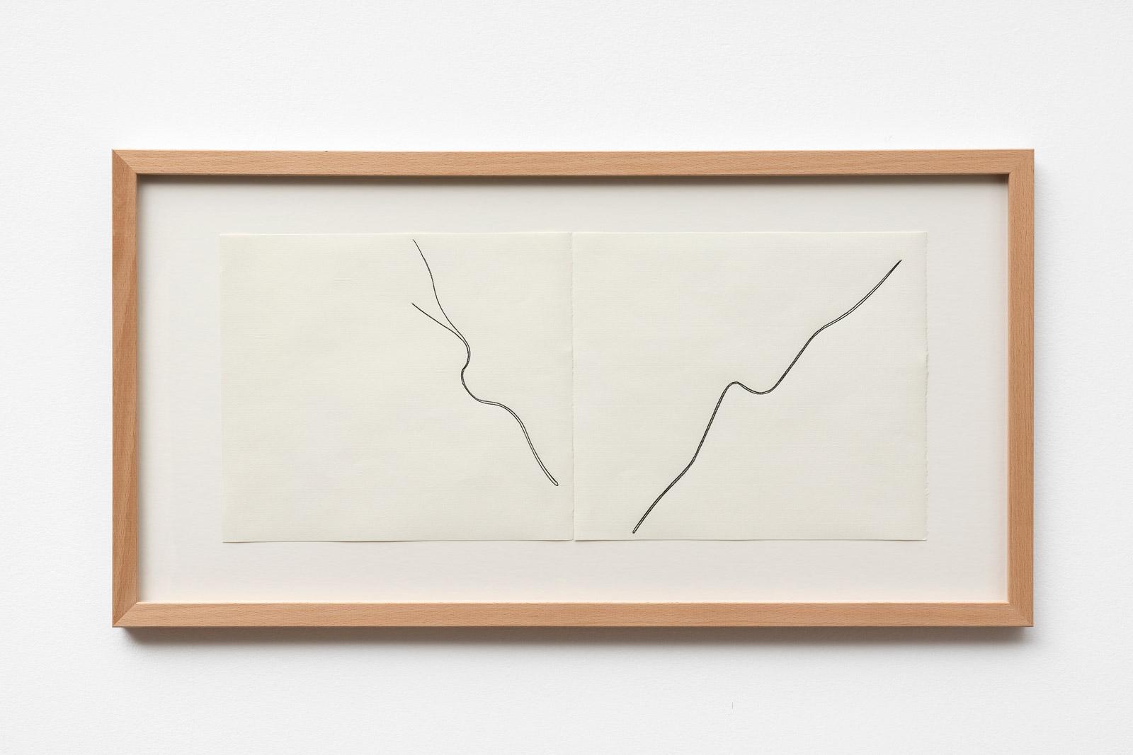 Christian Hanussek Double Feature 1 2019 pencil on paper 21 x 48 cm 33 x 625 cm framed