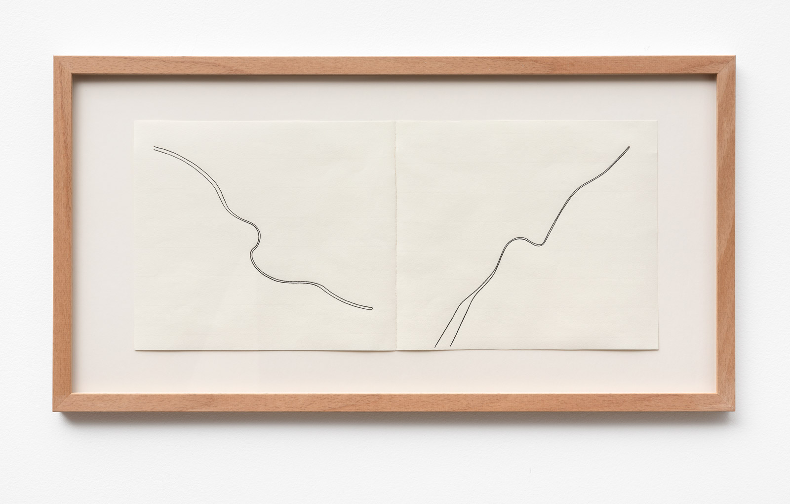 Christian Hanussek Double Feature 2 2019 pencil on paper 21 x 48 cm 33 x 625 cm framed