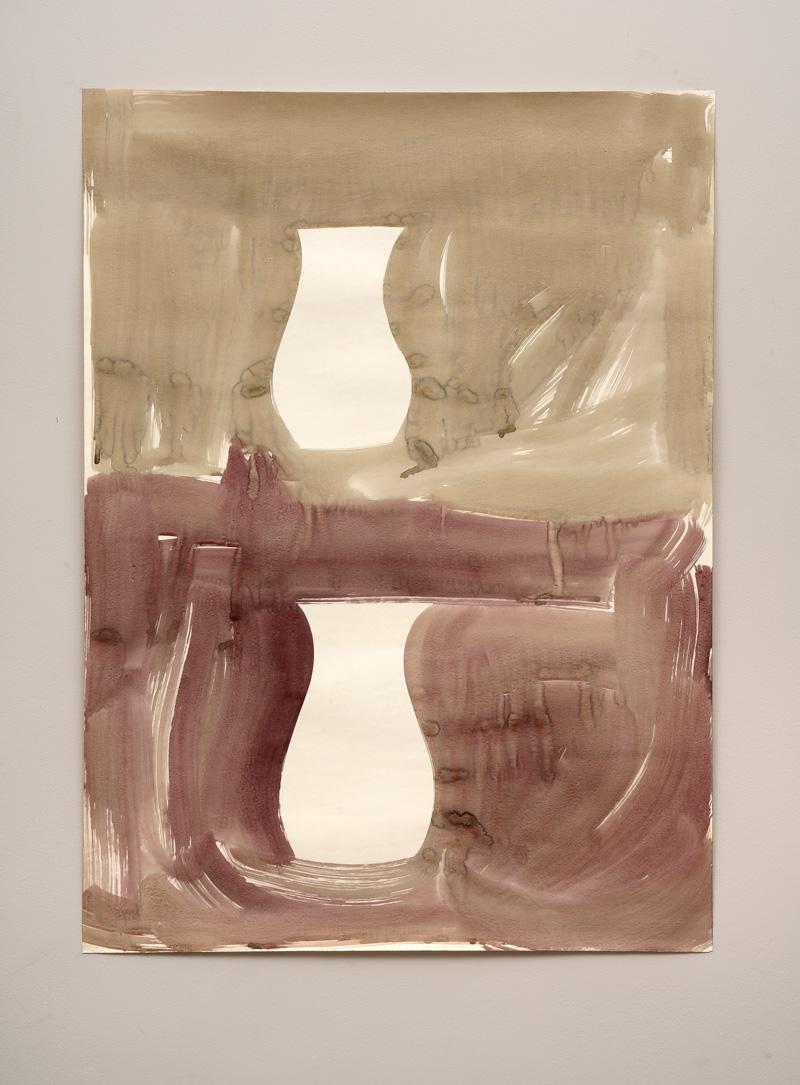 Gerald Domenig O.T. 1987 Acryl auf Papier 105 x 765 cm