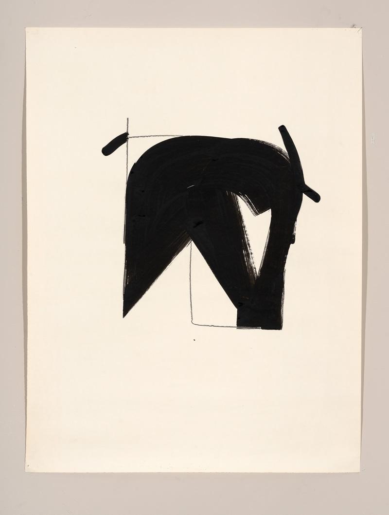 Gerald Domenig O.T. 1987 Acryl auf Papier 105 x 79cm