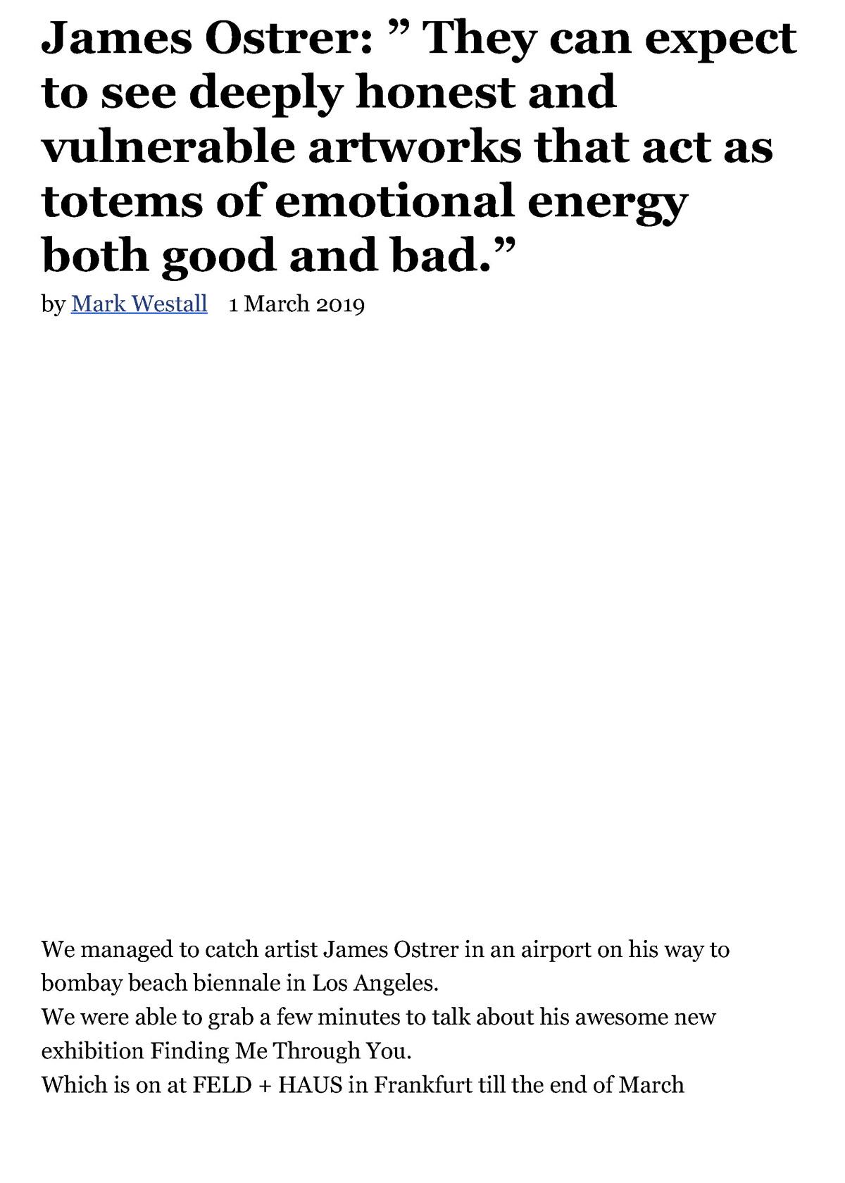 James Ostrer FAD MAGAZINE 1 March 2019 Seite 1