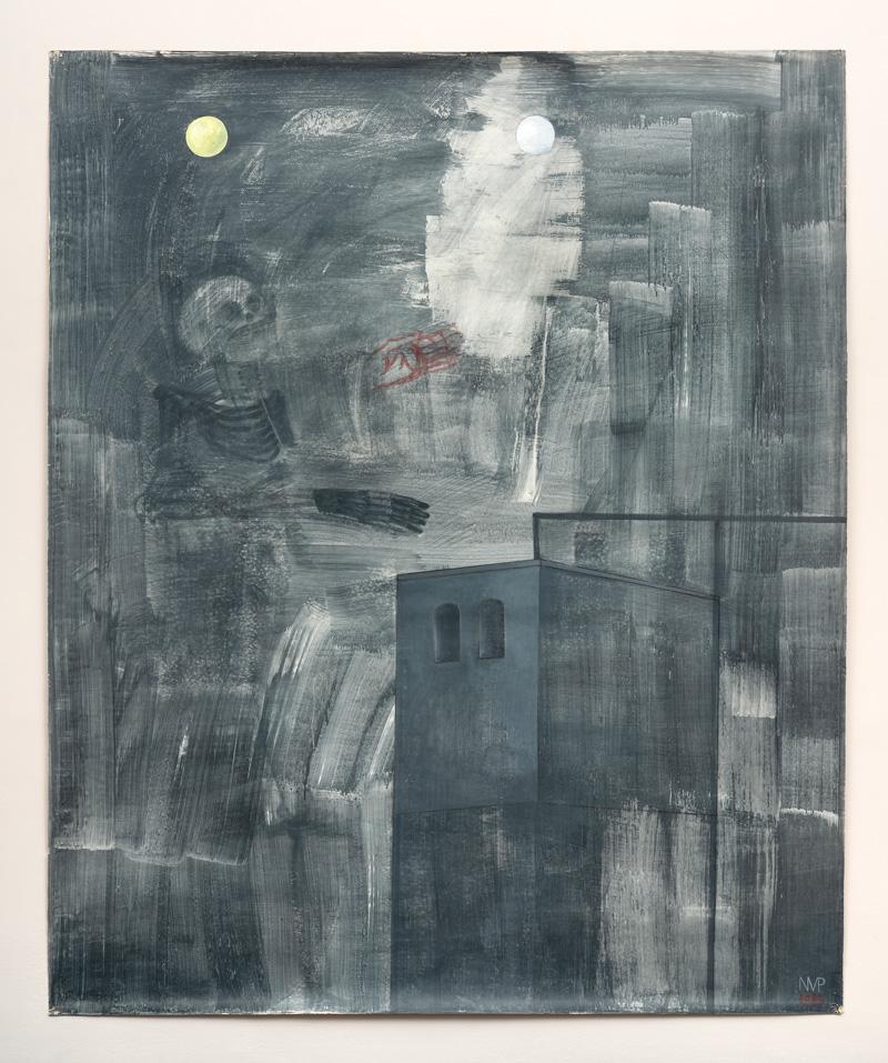 Nicole van den Plas O.T. 1985 Acryl auf Papier 211 x 175 cm